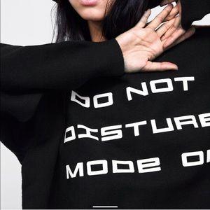 Black Zara knit do not disturb sweater